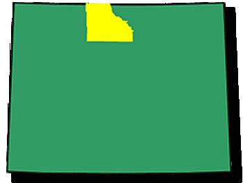 Big Horn County Boundaries & Map
