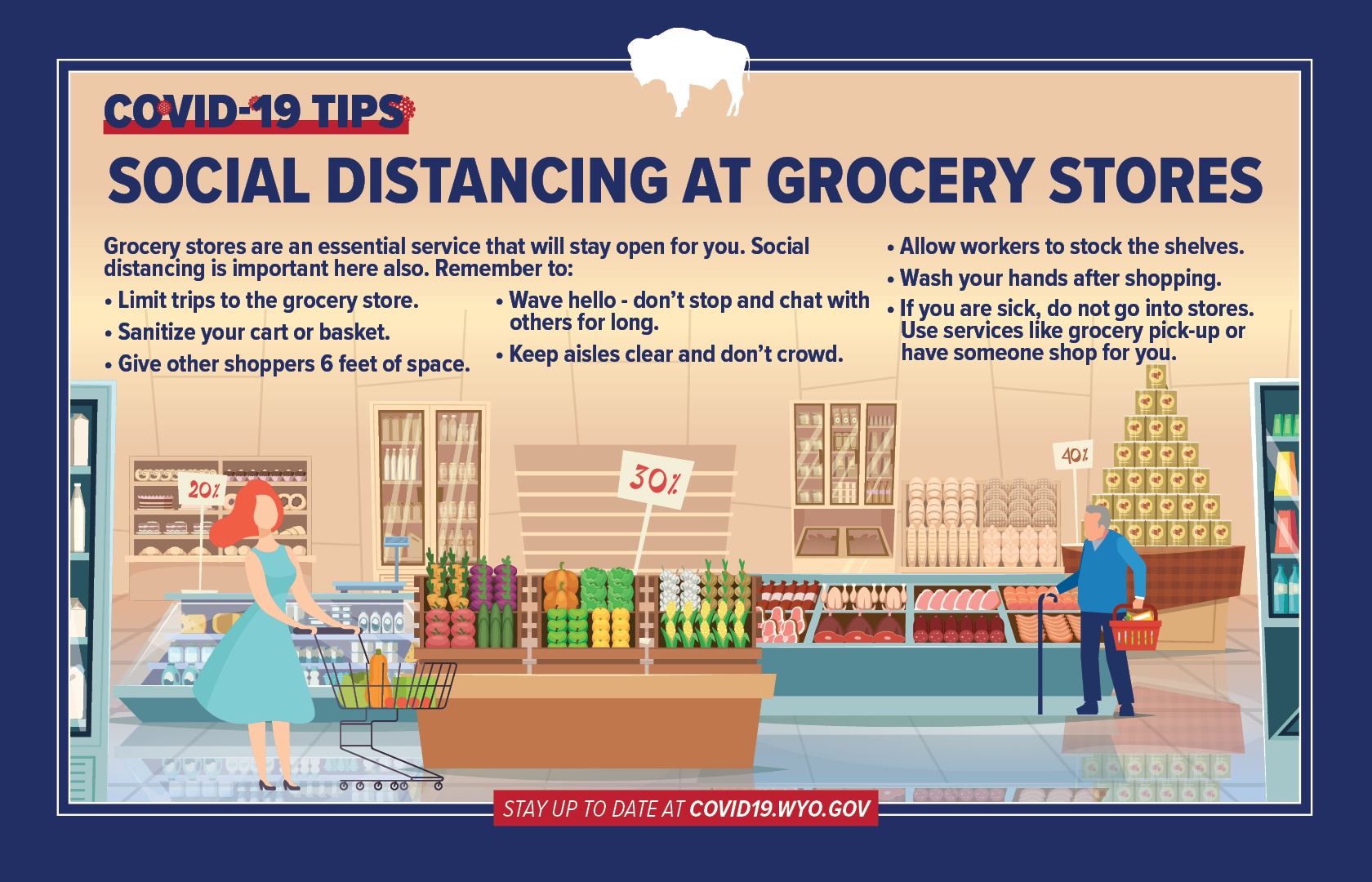 social distancing grocery